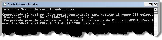 Installer SONAR - Oracle Universal Installer