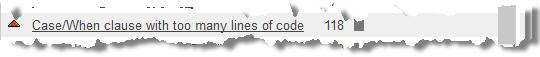 SONAR ABAP - CASE/WHEN with too many lines of code