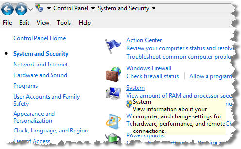 SONAR Install JDK - Control Panel