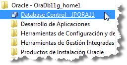 Oracle menu under Windows